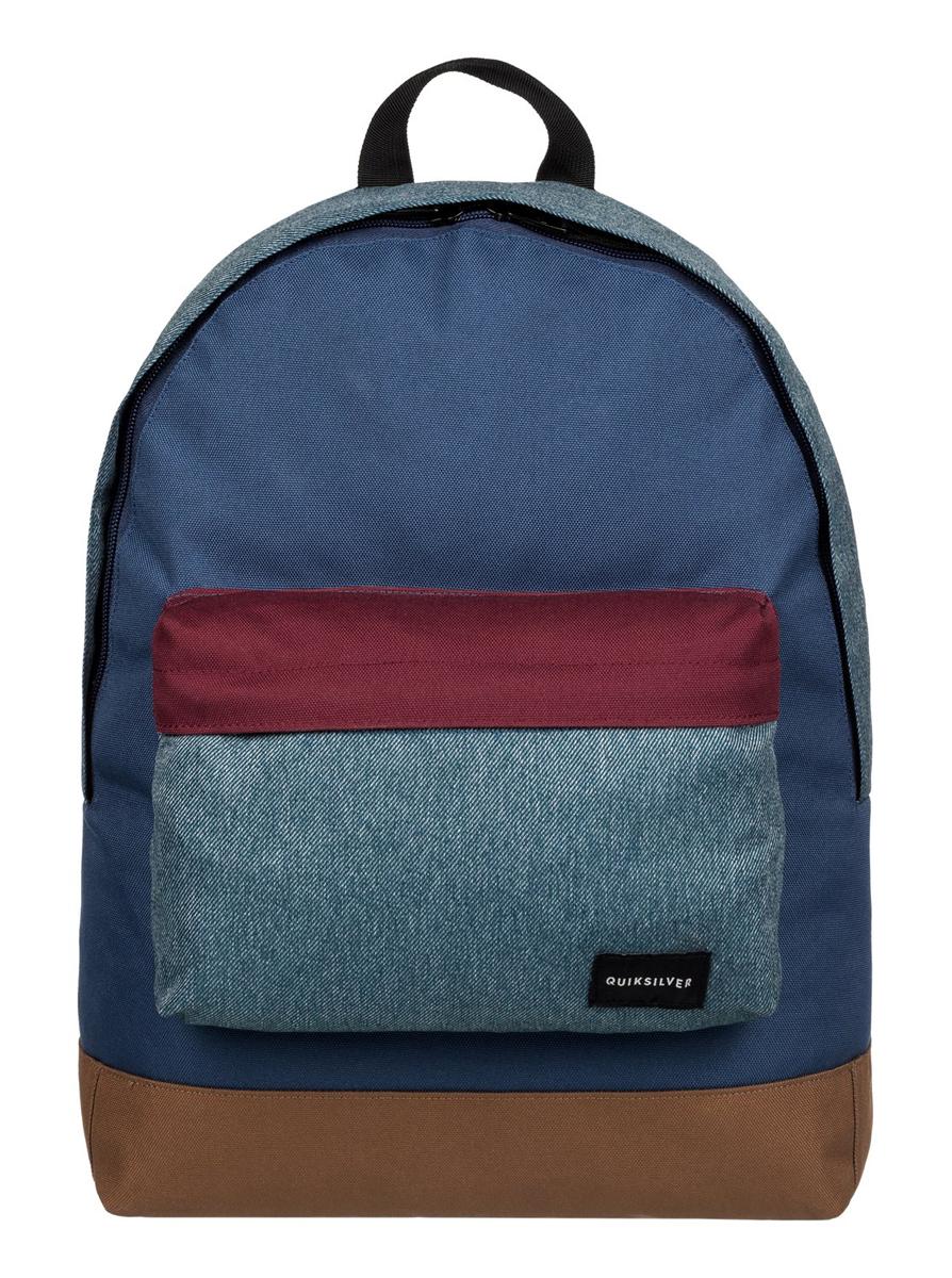 Рюкзак городской муж Quiksilver Everyday edit m bkpk brq0, цвет: синий, коричневый, 16 л