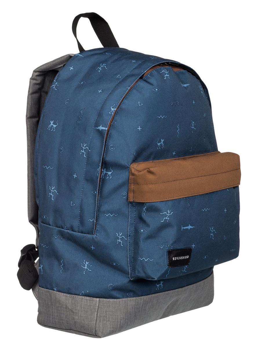 Рюкзак городской муж Quiksilver Everyday poster, цвет: синий, серый, 16 л
