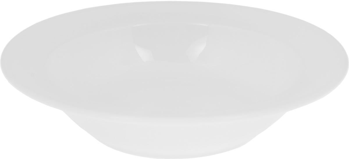 Тарелка глубокая Wilmax, диаметр 23 смWL-991017 / AГлубокая тарелка Wilmax, выполненная из высококачественного фарфора, предназначена для подачи супов и других жидких блюд. Она прекрасно впишется в интерьер вашей кухни и станет достойным дополнением к кухонному инвентарю. Тарелка Wilmax подчеркнет прекрасный вкус хозяйки и станет отличным подарком.