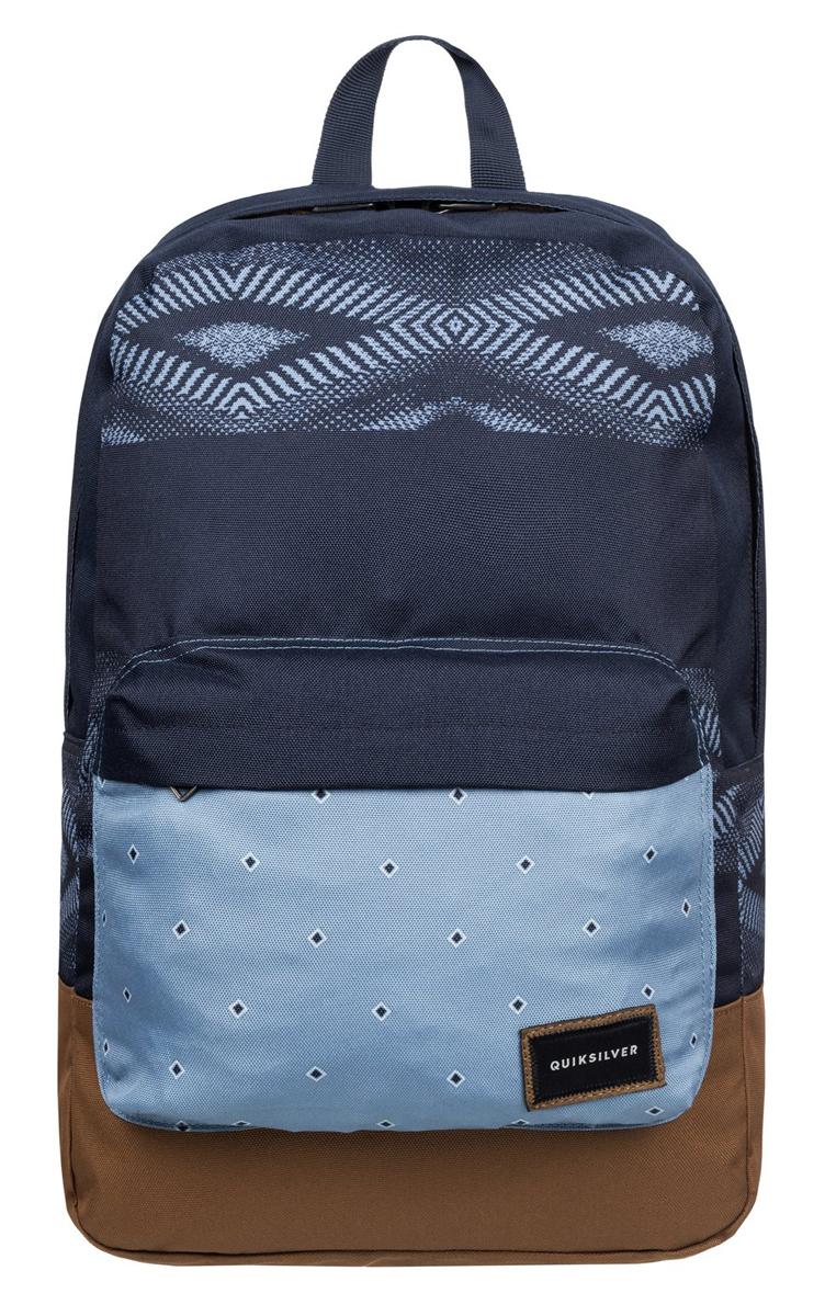 Рюкзак городской муж Quiksilver Night track print, цвет: синий, коричневый, 22 лEQYBP03278-BME6