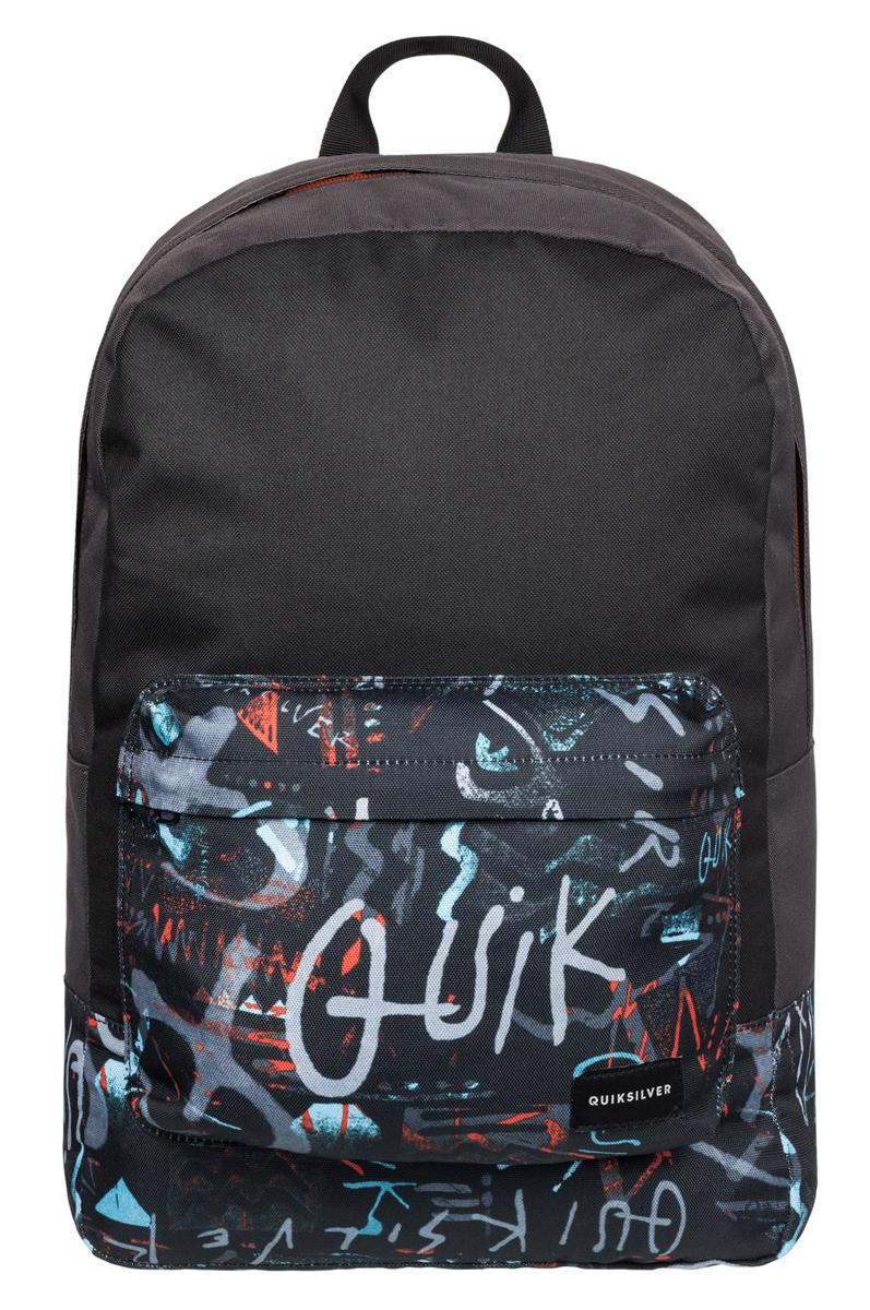 Рюкзак городской муж Quiksilver Night track print, цвет: черный, мульти, 22 лEQYBP03278-KTA7