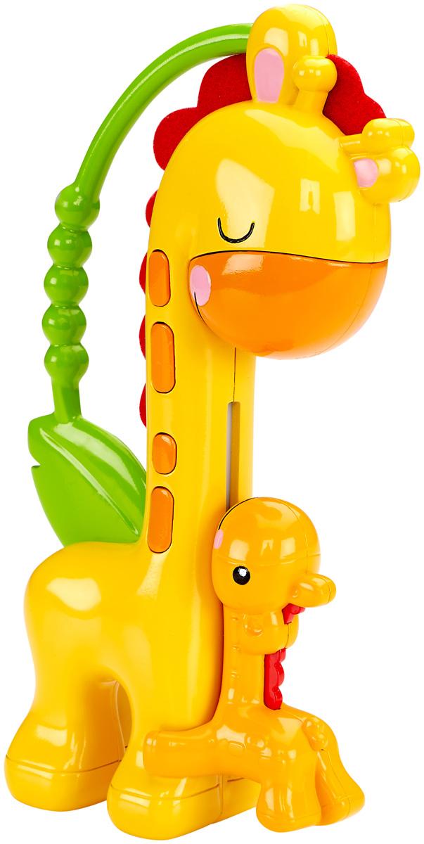 Fisher Price Погремушка Веселый жирафCGR92Яркая погремушка Fisher Price Веселый жираф привлечет внимание малыша. Игрушка выполнена в виде двух симпатичных жирафов - мамы и ее малыша и оснащена удобной ручкой, за которую удобно хвататься маленьким детским пальчикам. Если перевернуть игрушку вверх ногами, маленький жирафик заскользит вверх по шее большого жирафа, чтобы его поцеловать. Игрушка выполнена из безопасных, экологически чистых материалов.