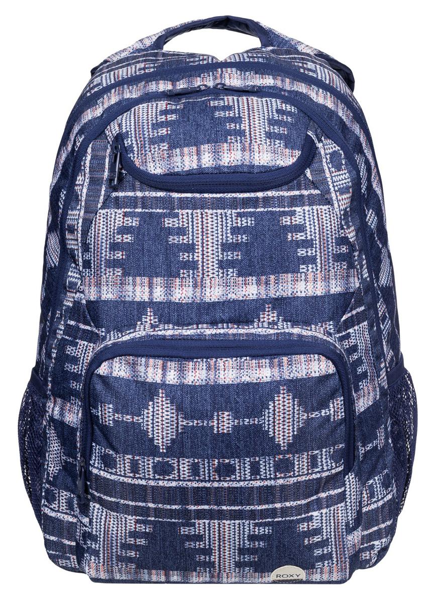 Рюкзак городской жен Roxy Shadow, цвет: синий, 24 лERJBP03270-BSQ7