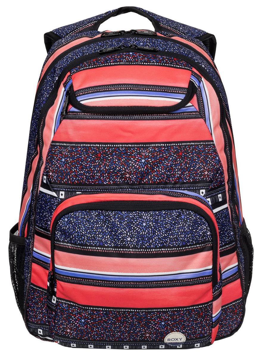 Рюкзак городской жен Roxy Shadow, цвет: синий, оранжевый, 24 л