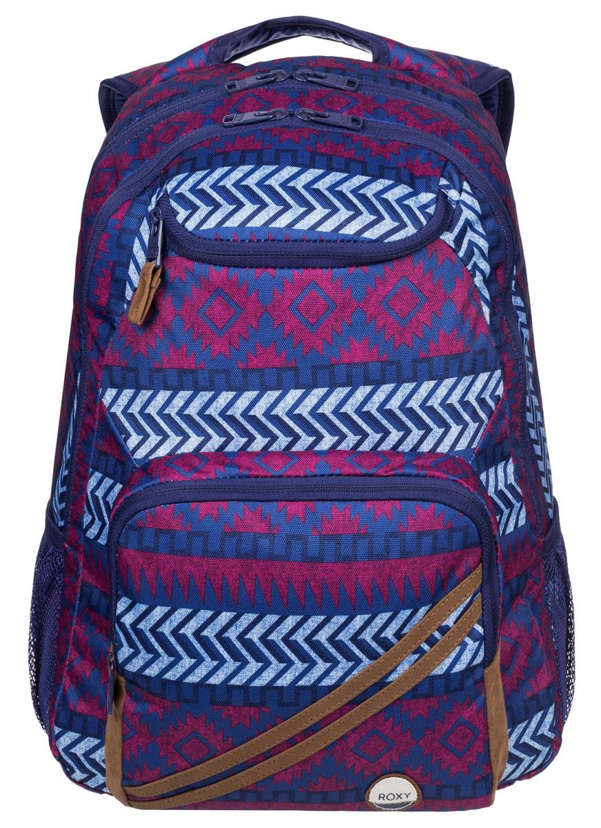 Рюкзак городской жен Roxy Shadow, цвет: синий, мульти, 24 л