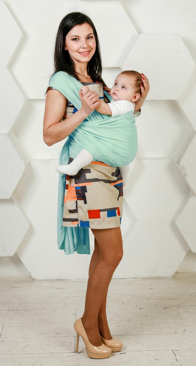 Мамарада Слинг-Шарф для новорожденных Ментол размер 42-52