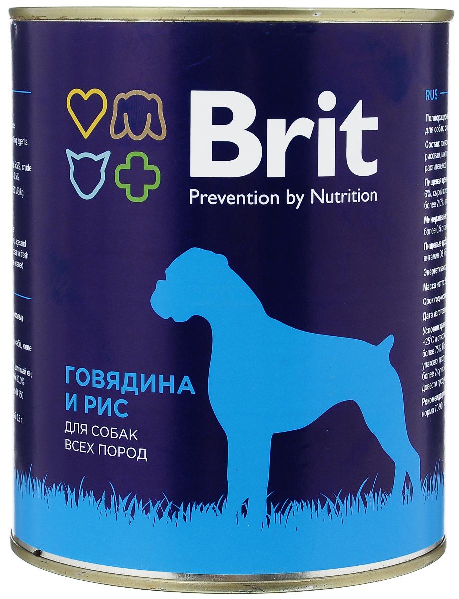 Консервы для собак Brit, с говядиной и рисом, 850 г4680265029280Консервы Brit - полнорационное питание для взрослых собак всех пород. Высококачественный корм идеально подойдет вашему любимцу. Консервы лучше усваиваются, чем сухие корма. Консервы Brit - прекрасное и вкусное дополнение к рациону вашего любимца. Товар сертифицирован.
