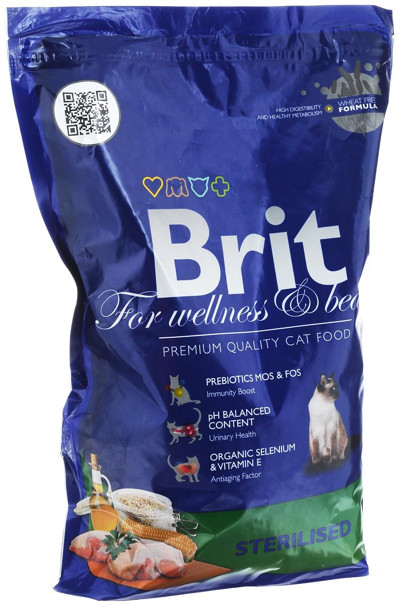 Корм сухой Brit Premium для стерилизованных кошек и кастрированных котов, 1,5 кг8594031443902Сбалансированный полнорационный корм Brit Premium предназначен для стерилизованных кошек и кастрированных котов. Основные достоинства: - Не содержит пшеницы, что максимально снижает пищевую аллергию. - Содержит пребиотики MOS и FOS, способствуя повышению иммунитета и поддержанию здоровой микрофлоры кишечника. - Содержит органический селен и витамин Е - факторы замедляющие процессы старения. Товар сертифицирован.