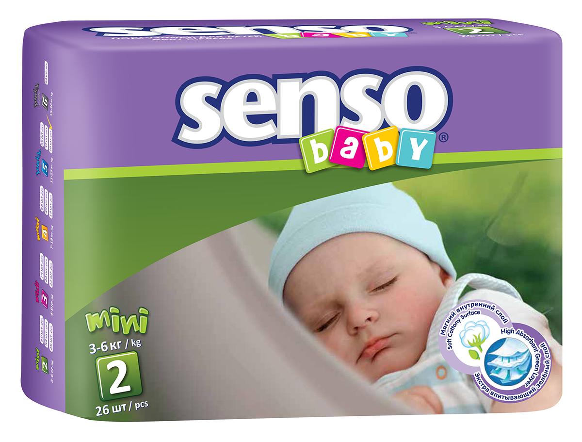 Senso Baby Подгузники детскиеMini 3-6 кг 26 шт300019