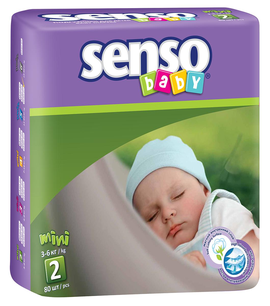 Senso Baby Подгузники детские Mini 3-6 кг 80 шт300021