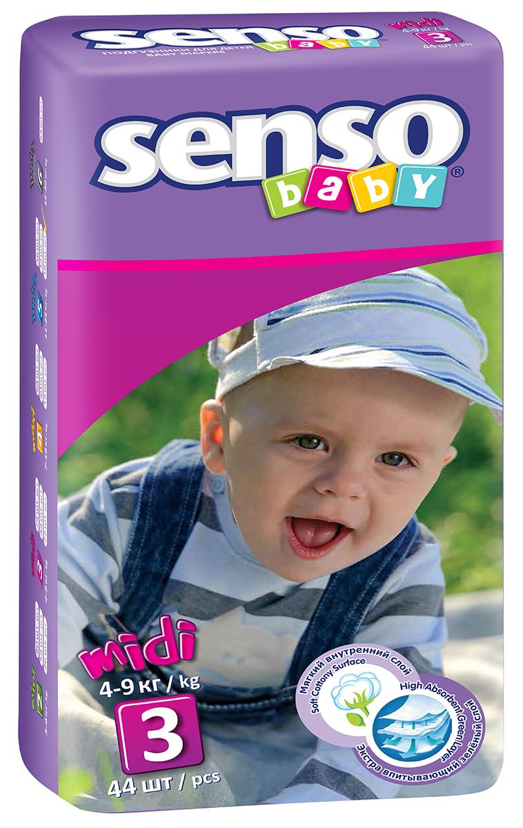 Senso Baby Подгузники детские Midi 4-9 кг 44 шт300023