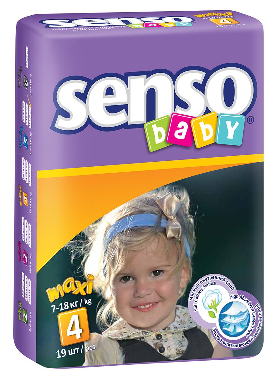 Senso Baby Подгузники детские Maxi 7-18 кг 19 шт300025