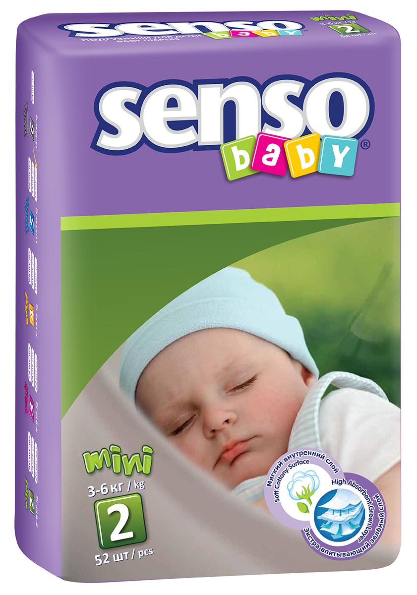 Senso Baby Подгузники детские Mini 3-6 кг 52 шт300054