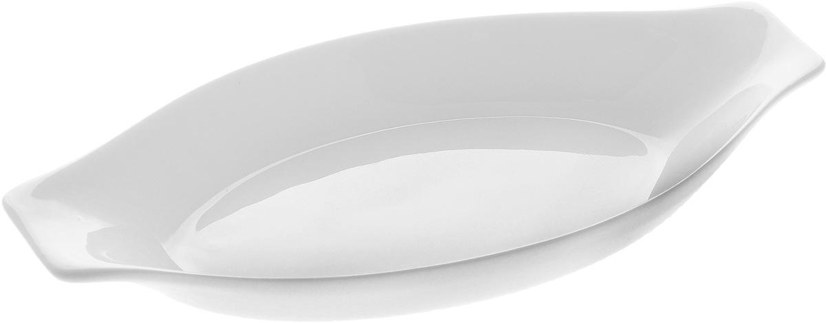 Форма для запекания Wilmax, овальная, 20 х 10 смWL-997010 / AНи для кого не секрет, что у настоящей хозяйки красивая посуда не только та, в которой она подает свои блюда, но и та, в которой она готовит. Овальная форма для запекания Wilmax выполнена из высококачественного фарфора и оснащена ручками для удобной переноски. Приятный глазу дизайн и отменное качество формы будут долго радовать вас. Можно мыть в посудомоечной машине и использовать в микроволновой печи. Внешний размер формы: 20 х 10 см. Внутренний размер формы: 7 х 12 см. Высота формы: 2,5 см.