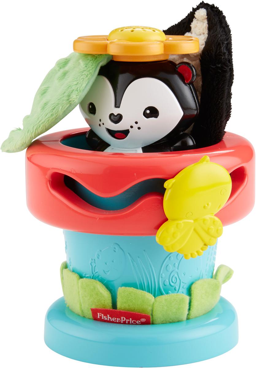 Fisher Price Развивающая игрушка Цветочный горшокDFP91С развивающей игрушкой Fisher Price Цветочный горшок всегда весело. Игрушка имеет три режима развивающей игры. Первый этап - игра в прятки - нажимайте на игрушку-скунса с ароматизированным цветком, текстурированным листом и шуршащим хвостом. Второй этап - игра в неваляшку - раскачивайте скунса как неваляшку и слушайте звон колокольчиков! Третий этап - вынимаем и вкладываем - достаньте веселого зверька из горшочка и играйте с ним отдельно. Жучок на верхушке цветочного горшка вертится и бегает по траектории, развивая тонкую моторику. Ванильный запах цветов развивает обоняние младенца. Развивающая игрушка Fisher Price Цветочный горшок помогает развивать сенсорные навыки, мелкую моторику, любознательность и тягу к новым открытиям.