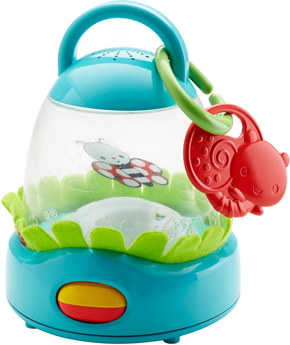 Fisher Price Развивающая игрушка Фонарик Порхающий светлячокDFP93Развивающая игрушка Fisher Price Фонарик. Порхающий светлячок развивает у новорожденного все чувства. На первой стадии (долгая игра): танцующий светлячок, мягкий рассеянный свет и 8 минут приятной музыки пробуждают в ребенке интерес. На второй стадии (короткая игра): ребенок может ударить по колесику, и светлячок полетит быстрее. Каждое действие ребенка вызывает световые и звуковые эффекты, помогая малышу улавливать причинно-следственные связи. Вы можете добавить дополнительные детали, такие как мягкая трава для стимуляции тактильных ощущений и съемный прорезыватель в виде улитки. Игрушка развивает сенсорные навыки, любознательность, тягу к познанию и чувство защищенности. Рекомендуется докупить 3 батарейки напряжением 1,5V типа АА (товар комплектуется демонстрационными).