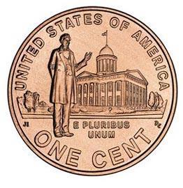 Монета номиналом 1 цент Профессиональная жизнь Линкольна. Двор D. Цинк, медь, США, 2009 годC477s