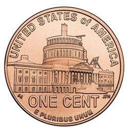 Монета номиналом 1 цент Президентство Линкольна. Двор D. Цинк, медь, США, 2009 годC478s