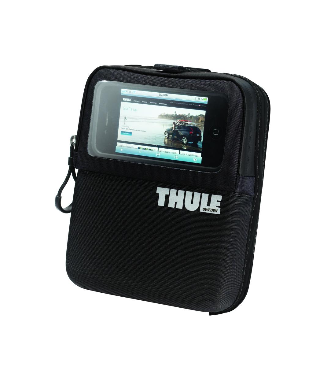 Сумка на руль Thule Wallet, для смартфонов и мелочей100004Удобный доступ к устройствам GPS-навигации благодаря прозрачной крышке. Легкая установка/снятие с размещаемой на руле системы Thule Pack 'n Pedal Handlebar Attachment. Накидка от дождя в комплекте.