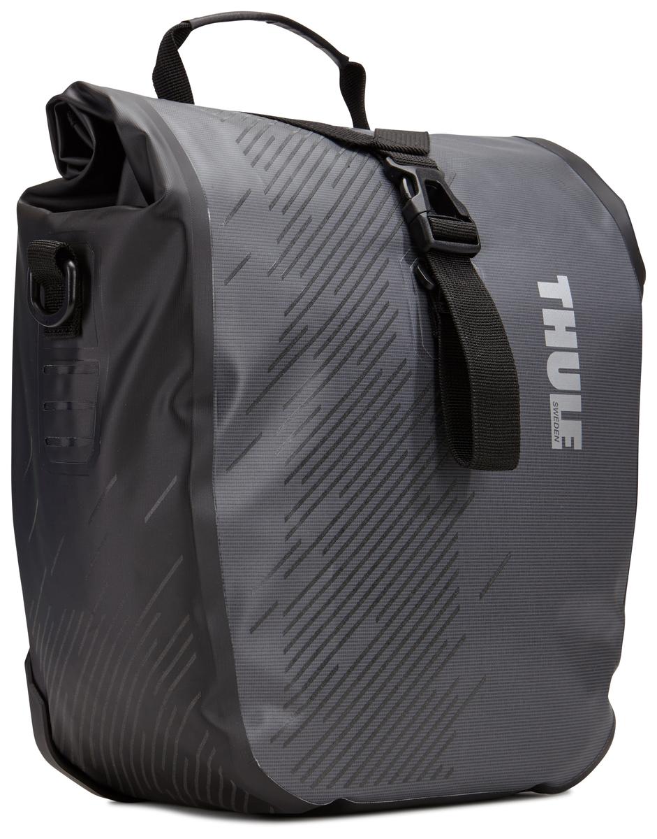 """Набор велосипедных сумок Thule """"Pack?n Pedal Shield Pannier"""", цвет: темно-серый, 2 шт. Размер S"""