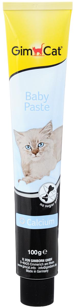 Паста для котят GimCat Baby, с кальцием, 100 г4002064406435Паста GimCat Baby содержит 12 основных витаминов для укрепления иммунитета вашего котенка. Входящий в состав кальций важен для формирования костей. правильного развития скелета и зубов. Котятам необходимо вдвое больше витаминов и кальция, чем взрослым кошкам. Таурин поддерживает хорошее зрение и правильную работу сердца. Комплекс питательных веществ и пищевых волокон в сочетании с кальцием укрепляет организм животного. Также рекомендуется кормящим кошкам. Без добавления сахара. Товар сертифицирован.