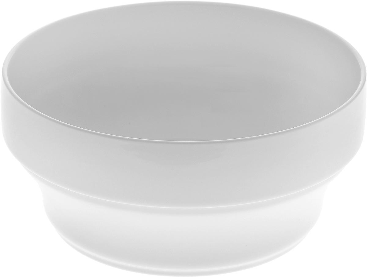 Салатник штабелируемый Wilmax, 1,4 лWL-992557 / AЭлегантный салатник Wilmax выполнен из высококачественного фарфора с глазурованным покрытием. Салатник Wilmax прекрасно подойдет для подачи различных блюд: закусок, салатов или фруктов. Такой салатник украсит ваш праздничный или обеденный стол, а нежное исполнение понравится любой хозяйке. Можно мыть в посудомоечной машине и использовать в микроволновой печи. Диаметр салатника: 18 см. Высота стенок салатника: 8,5 см.