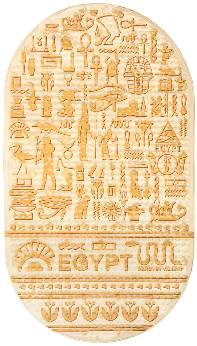 Коврик для ванной Valiant Egypt Symbols, 69х39 см, на присосах, противоскользящий