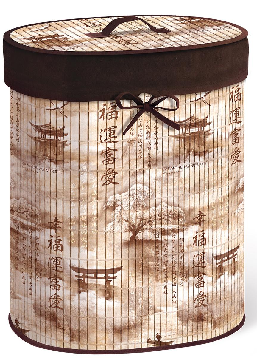Корзина для белья Valiant Japanese White, складная, с крышкой, цвет: светло-коричневый, коричневый, 30 х 40 х 55 смJAP-MBB-XLКорзина для белья Valiant Japanese Manuscript изготовлена из бамбука и предназначена для сбора и хранения вещей перед стиркой. Корзина имеет каркасную конструкцию, которая обеспечивает легкость складывания и раскладывания корзины. Компактная и легкая, она не занимает много места, аккуратно хранит белье. Изделие оснащено легкой крышкой. Корзина для белья Valiant Japanese Manuscript со стильным дизайном гармонично смотрится в современном интерьере и станет незаменимым аксессуаром.