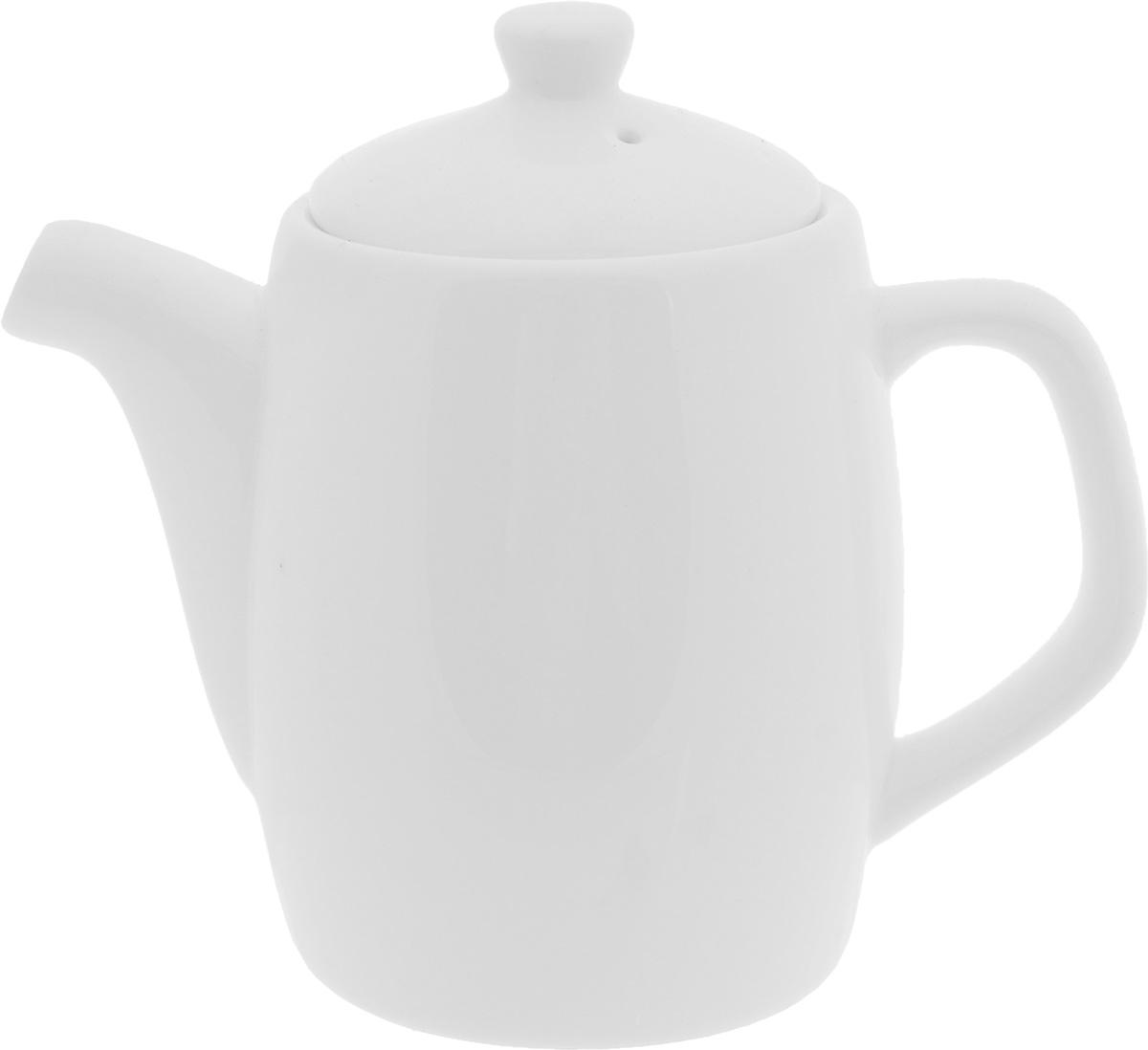 Чайник заварочный Wilmax, 350 млWL-994005 / 1CЗаварочный чайник Wilmax изготовлен из высококачественного фарфора. Глазурованное покрытие обеспечивает легкую очистку. Изделие прекрасно подходит для заваривания вкусного и ароматного чая, а также травяных настоев. Ситечко в основании носика препятствует попаданию чаинок в чашку. Оригинальный дизайн сделает чайник настоящим украшением стола. Он удобен в использовании и понравится каждому. Можно мыть в посудомоечной машине и использовать в микроволновой печи. Диаметр чайника (по верхнему краю): 7 см. Высота чайника (без учета крышки): 10 см.