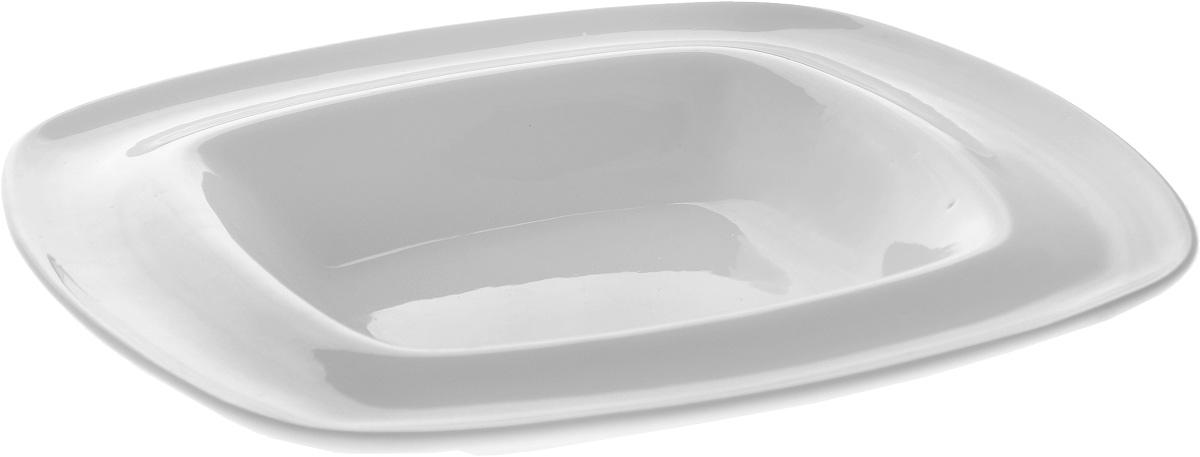 Тарелка глубокая Wilmax, 22 х 22 смWL-991021 / AГлубокая тарелка Wilmax, выполненная из высококачественного фарфора, предназначена для подачи супов и других жидких блюд. Она прекрасно впишется в интерьер вашей кухни и станет достойным дополнением к кухонному инвентарю. Тарелка Wilmax подчеркнет прекрасный вкус хозяйки и станет отличным подарком. Размер тарелки: 22 х 22 см.