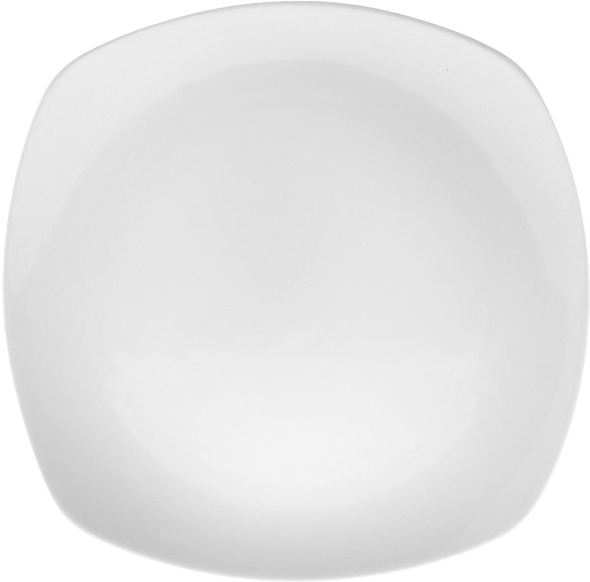 Тарелка Wilmax, 24,5 х 24,5 смWL-991002 / AТарелка Wilmax, изготовленная из высококачественного фарфора, имеет квадратную форму. Оригинальный дизайн придется по вкусу и ценителям классики, и тем, кто предпочитает утонченность и изысканность. Тарелка Wilmax идеально подойдет для сервировки стола и станет отличным подарком к любому празднику. Размер тарелки: 24,5 х 24,5 см.