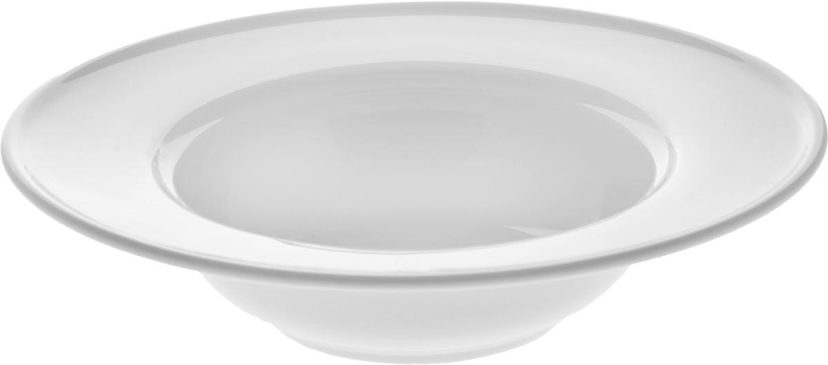 Тарелка глубокая Wilmax, диаметр 23 см. WL-991020 / AWL-991020 / AГлубокая тарелка Wilmax, выполненная из высококачественного фарфора, предназначена для подачи супов и других жидких блюд. Она прекрасно впишется в интерьер вашей кухни и станет достойным дополнением к кухонному инвентарю. Тарелка Wilmax подчеркнет прекрасный вкус хозяйки и станет отличным подарком.