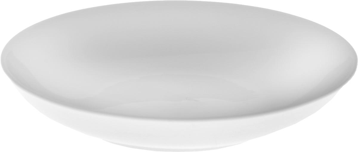 Тарелка глубокая Wilmax, диаметр 23 см. WL-991117 / AWL-991117 / AГлубокая тарелка Wilmax, выполненная из высококачественного фарфора, предназначена для подачи супов и других жидких блюд. Она прекрасно впишется в интерьер вашей кухни и станет достойным дополнением к кухонному инвентарю. Тарелка Wilmax подчеркнет прекрасный вкус хозяйки и станет отличным подарком.