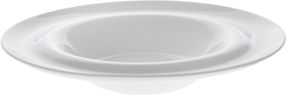 Тарелка глубокая Wilmax, диаметр 23 см. WL-991022 / AWL-991022 / AГлубокая тарелка Wilmax, выполненная из высококачественного фарфора, предназначена для подачи супов и других жидких блюд. Она прекрасно впишется в интерьер вашей кухни и станет достойным дополнением к кухонному инвентарю. Тарелка Wilmax подчеркнет прекрасный вкус хозяйки и станет отличным подарком.