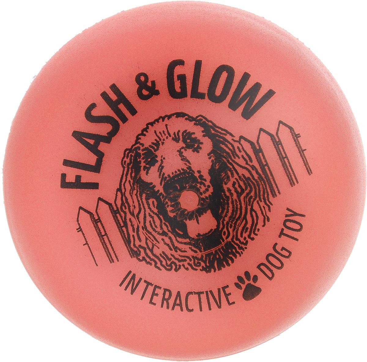 Мяч светящийся AmericanDogToys Flash & Glow, цвет: коралловый, диаметр 6,5 см6053_коралловыйСветящийся мяч AmericanDogToys Flash & Glow, изготовленный из пластика, порадует вашего питомца. Изделие очень прочное, отличается устойчивостью к разгрызанию и долгим сроком службы. Мячик начинает мигать красным огнем при ударе и светится в темноте. Кроме того, изделие не тонет на воде и замечательно подходит для игр как дома, так и на открытом воздухе. Такая игрушка порадует вашего любимца, а вам доставит массу приятных эмоций, ведь наблюдать за игрой всегда интересно и приятно. Диаметр: 6,5 см.