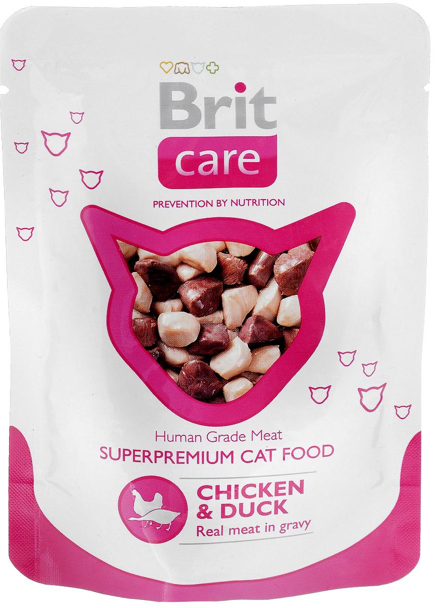 Консервы для кошек Brit Care, с курицей и уткой, 80 г8594031447047Консервы для кошек Brit Care - влажный корм класса премиум для кошек с кусочками курицы и утки. Изготовлен только из натуральных, гипоаллергенных, легко усваиваемых ингредиентов, которые снижают риск индивидуальной непереносимости пищевых продуктов. Корм помогает поддерживать внутренний баланс организма животного, что улучшает качество жизни вашей кошки. Содержит все жизненно важные витамины и минералы в идеальных пропорциях. Прекрасный баланс протеинов и жиров. Удобная и гигиеничная упаковка. Пищевая ценность: протеин 12%, жир 1%, зола 1,5%, влажность 84%. Энергетическая ценность (на 100 г): 50,5 ккал. Товар сертифицирован.