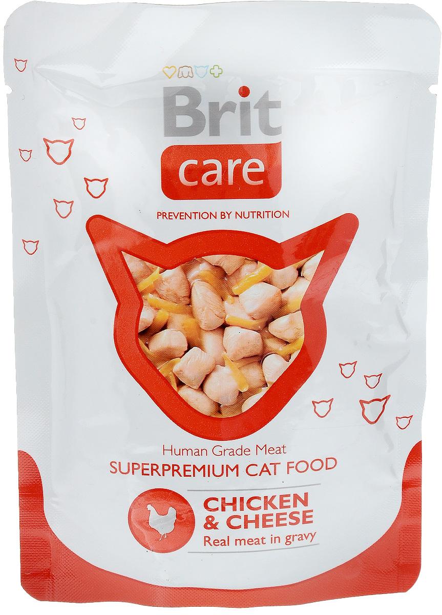 Консервы для кошек Brit Care, с курицей и сыром, 80 г8594031447016Консервы для кошек Brit Care - влажный корм класса премиум для кошек с кусочками курицы и сыром. Изготовлен только из натуральных, гипоаллергенных, легко усваиваемых ингредиентов, которые снижают риск индивидуальной непереносимости пищевых продуктов. Корм помогает поддерживать внутренний баланс организма животного, что улучшает качество жизни вашей кошки. Содержит все жизненно важные витамины и минералы в идеальных пропорциях. Прекрасный баланс протеинов и жиров. Удобная и гигиеничная упаковка. Пищевая ценность: протеин 12%, жир 2%, зола 2%, влажность 83%. Энергетическая ценность (на 100 г): 59 ккал. Товар сертифицирован.