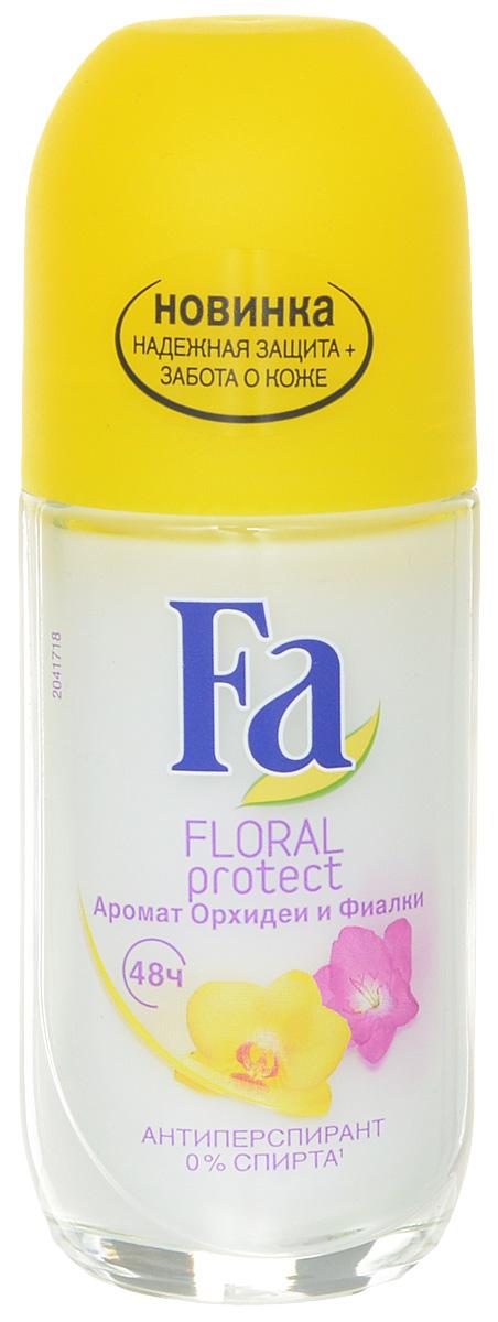 FA Дезодорант роликовый женский Floral Protect Орхидея & Фиалка, 50 мл 120838006