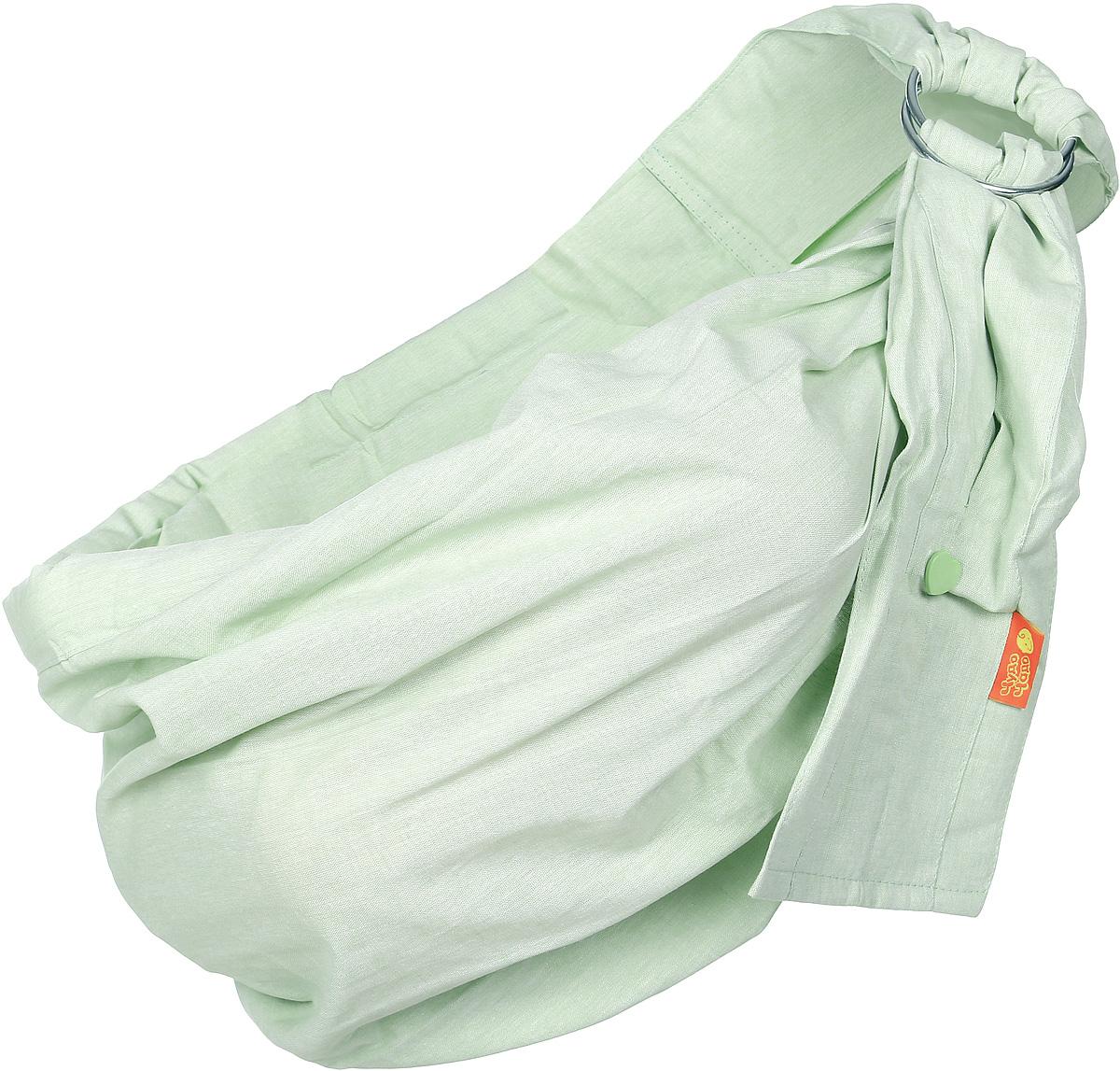 Чудо-Чадо Слинг на кольцах Лен цвет фисташковый Размер M