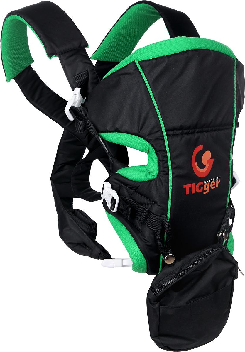 TIGger Рюкзак-переноска Stern цвет черный зеленый ( 1043-05_черный, зеленый )