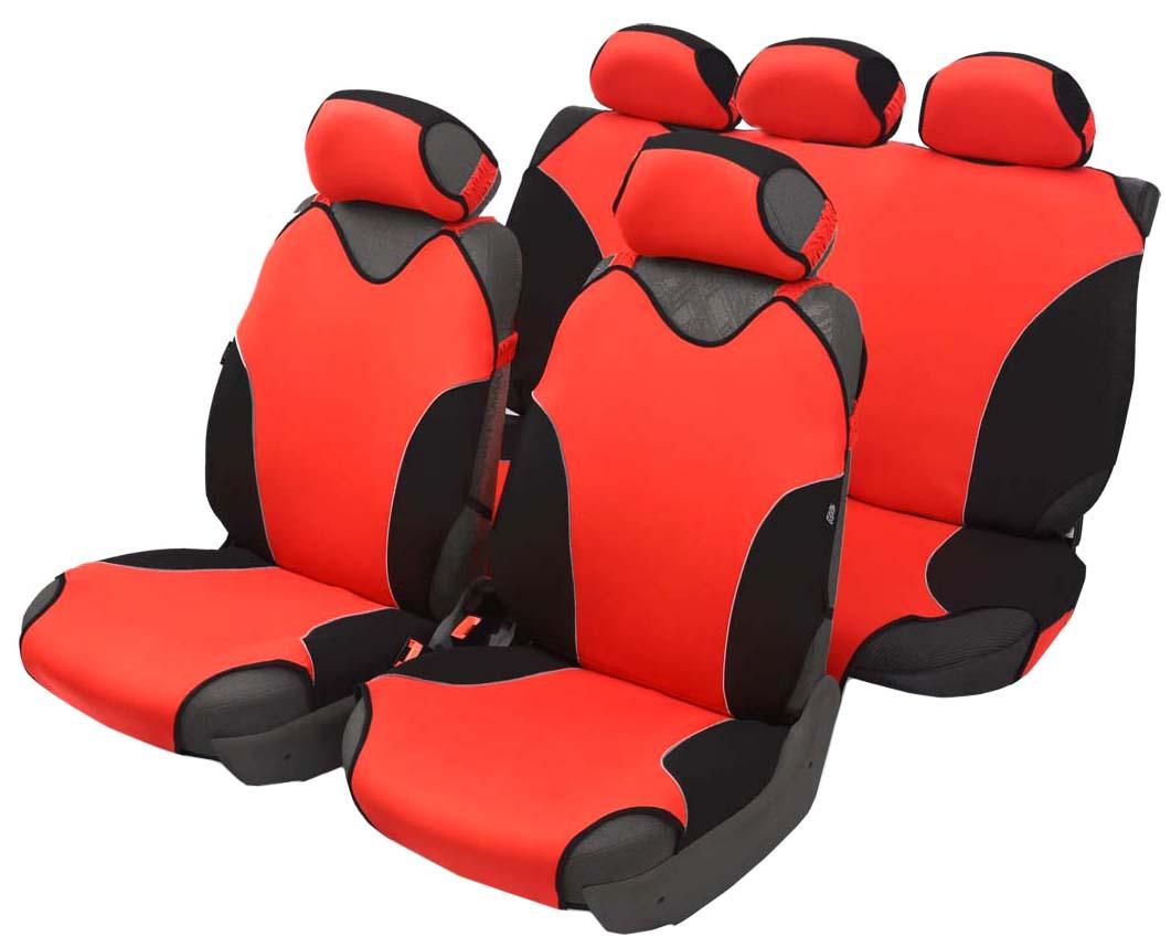 Чехол-майка Azard Turbo, полный комплект, цвет: красный, 4+5 предметовМАЙ00078Универсальные чехлы-майки на сидения автомобиля. Спортивный динамичный дизайн с контрастными боковыми вставками. Чехлы надежно прилегают к автокреслам и не собираются в процессе эксплуатации. Применимы в автомобилях с боковыми подушками безопасности (AIR BAG). Материал триплирован огнеупорным поролоном 2 мм, за счет чего чехол приобретает дополнительную мягкость и устойчивость к возгоранию. Авточехлы майки Azard Turbo износоустойчивы и легко стирается в стиральной машине. Рекомендуется стирка в деликатном режиме.