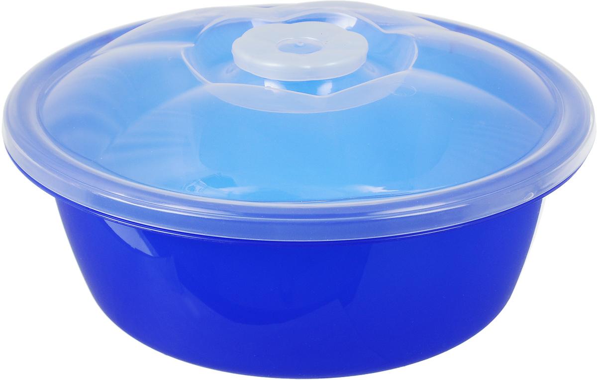 Миска Dunya Plastik, с крышкой, цвет: синий, прозрачный, 2,7 л10423Миска Dunya Plastik, изготовленная из пищевого пластика, имеет круглую форму. Изделие, оснащенное крышкой, очень функционально. Миска прекрасно подойдет для хранения различных бытовых предметов или пищевых продуктов. Диаметр (по верхнему краю): 23,5 см. Высота стенки (без учета крышки): 9,5 см.