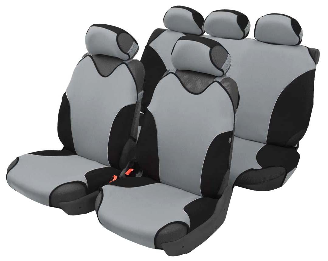 Чехол-майка Azard Turbo, полный комплект, цвет: темно-серый, 4+5 предметовМАЙ00081Универсальные чехлы-майки на сидения автомобиля. Спортивный динамичный дизайн с контрастными боковыми вставками. Чехлы надежно прилегают к автокреслам и не собираются в процессе эксплуатации. Применимы в автомобилях с боковыми подушками безопасности (AIR BAG). Материал триплирован огнеупорным поролоном 2 мм, за счет чего чехол приобретает дополнительную мягкость и устойчивость к возгоранию. Авточехлы майки Azard Turbo износоустойчивы и легко стирается в стиральной машине. Рекомендуется стирка в деликатном режиме.