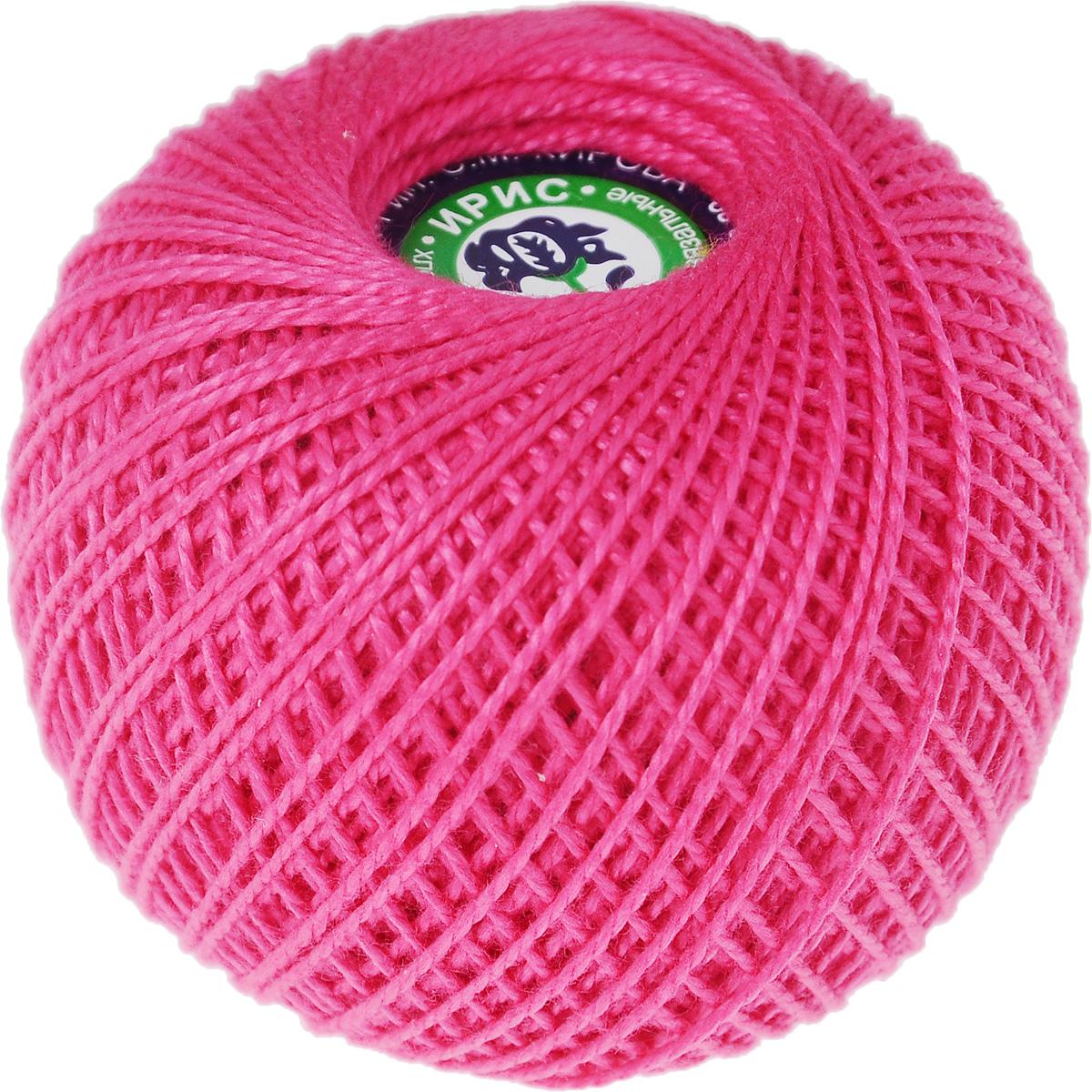 Нитки вязальные Ирис, хлопчатобумажные, цвет: ярко-розовый (1110), 150 м, 25 г, 6 шт0211101950778Вязальные нитки в 2 сложения Ирис изготовлены из 100% хлопка. Такие нитки используются для вязания крючком. Нити крученые, однотонные, мерсеризованные. В наборе - 6 клубков. С их помощью вы сможете связать своими руками необычные и красивые вещи. Комплектация: 6 шт. Линейная плотность: 167 текс.