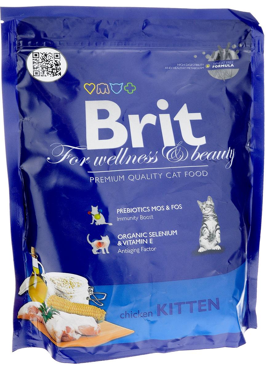 Корм сухой Brit Premium для котят, беременных и кормящих кошек, с курицей, 300 г8594031443896Полноценный сбалансированный корм Brit Premium предназначен для котят от 1 месяца до 1 года, также рекомендуется для беременных и кормящих кошек всех пород. Он не содержит пшеницы, что обеспечивает максимальное снижение пищевой аллергии. Содержание пребиотиков MOS и FOS повышает иммунитет и поддерживает здоровую микрофлору кишечника. Органический селен и витамин Е замедляют процессы старения. Товар сертифицирован.