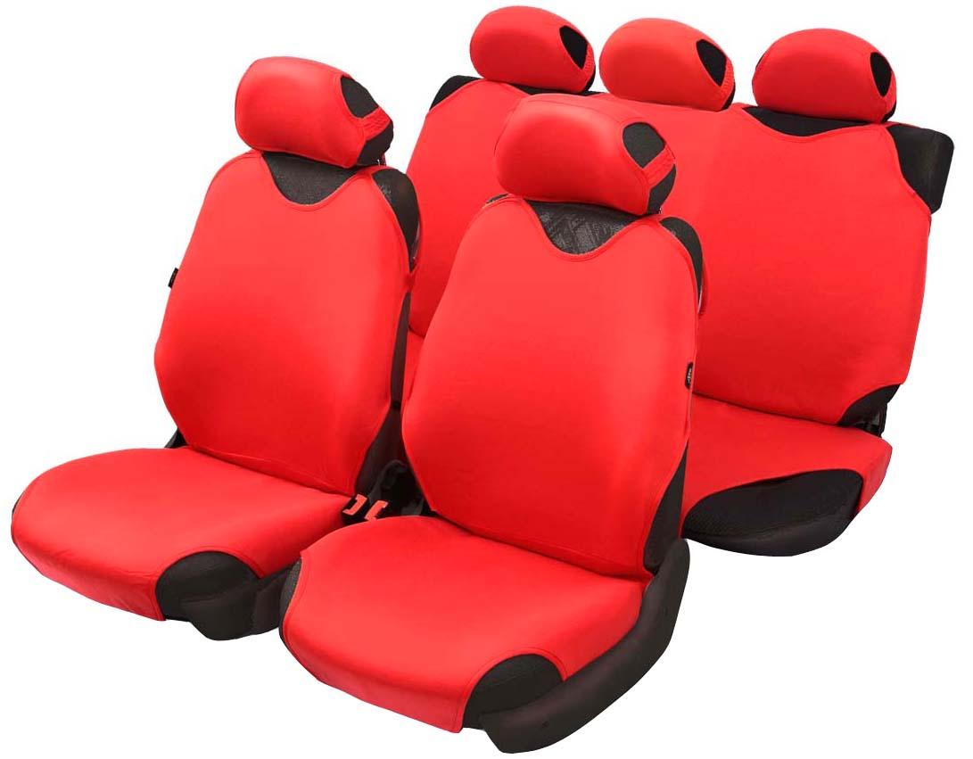 Чехол-майка Azard Cotton, полный комплект, цвет: красный, 4+5 предметовМАЙ00011Универсальные чехлы-майки на передние сидения автомобиля. Приятный на ощупь мягкий материал имеет в своем составе 70% хлопка. Чехлы надежно прилегают к автокреслам и не собираются в процессе эксплуатации. Применимы в автомобилях с боковыми подушками безопасности (AIR BAG). Материал триплирован огнеупорным поролоном 2 мм, за счет чего чехол приобретает дополнительную мягкость и устойчивость к возгоранию. Авточехлы майки Azard Cotton износоустойчивы и легко стирается в стиральной машине. Рекомендуется стирка в деликатном режиме.