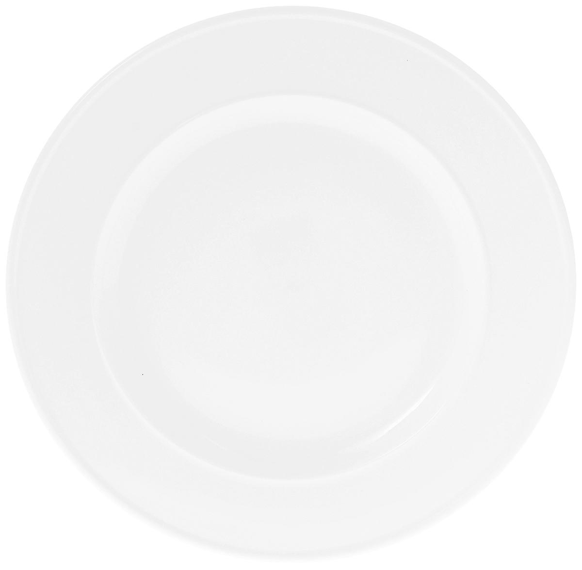 Тарелка Wilmax, диаметр 25,5 см. WL-991242 / AWL-991242 / AТарелка Wilmax, изготовленная из высококачественного фарфора, имеет классическую круглую форму. Изделие идеально подойдет для сервировки стола и станет отличным подарком к любому празднику. Можно мыть в посудомоечной машине и использовать в микроволновой печи.