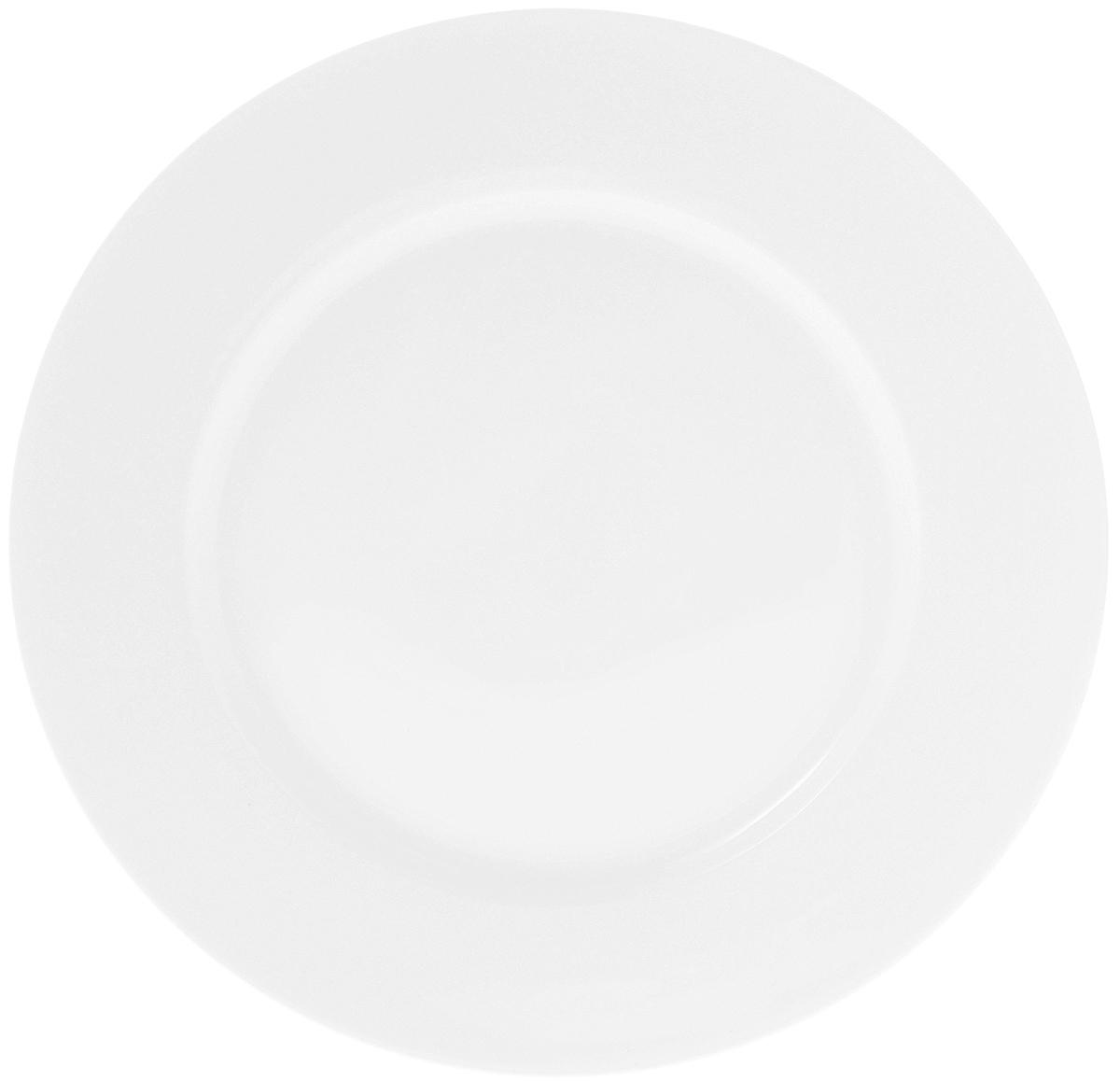 Тарелка Wilmax, диаметр 25,5 см. WL-991008 / AWL-991008 / AТарелка Wilmax, изготовленная из высококачественного фарфора, имеет классическую круглую форму. Изделие идеально подойдет для сервировки стола и станет отличным подарком к любому празднику. Можно мыть в посудомоечной машине и использовать в микроволновой печи.