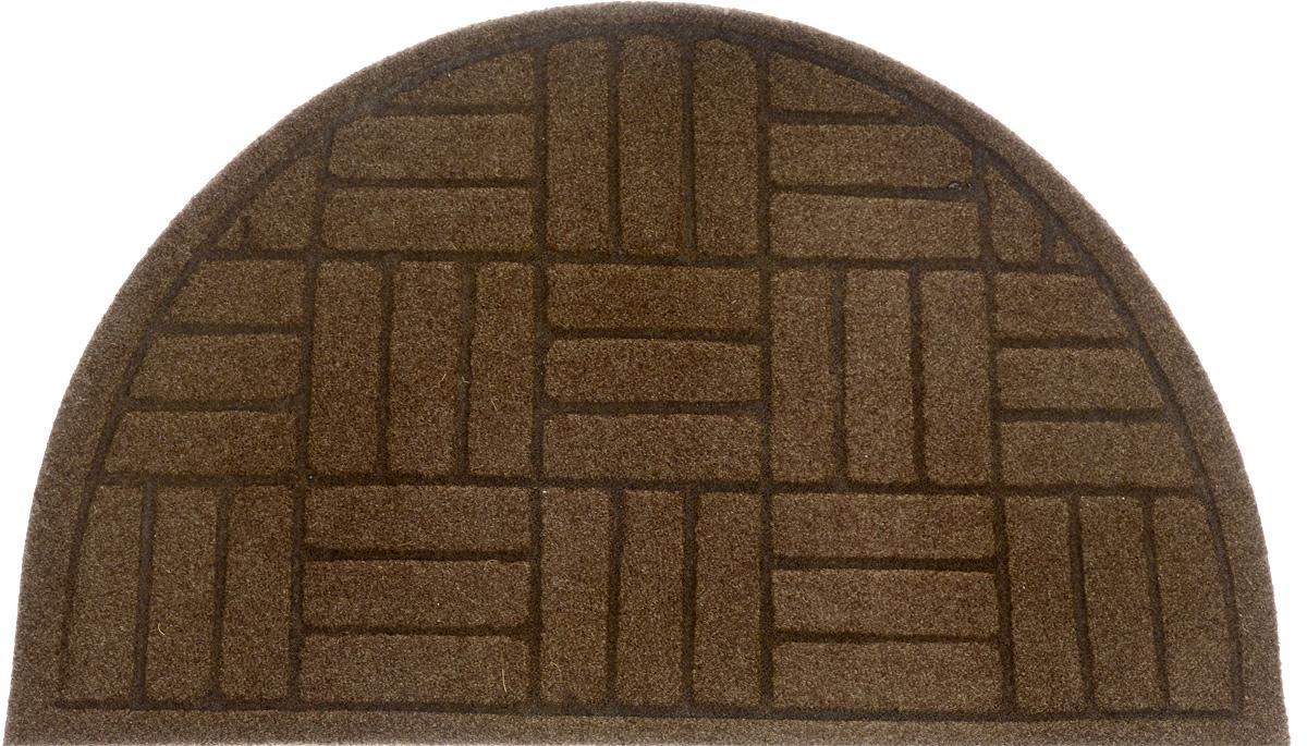 """EFCO (Egyptian fibers company) Коврик придверный EFCO """"Оскар. Паркет"""", цвет: коричневый, 65 х 40 см"""