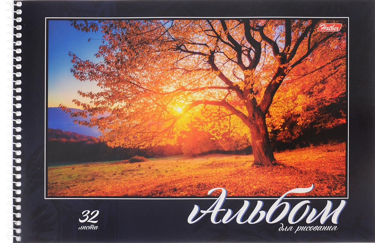 Hatber Альбом для рисования Великолепные пейзажи 32 листа цвет темно-синий желтый32А4Bсп_14485_темно-синийАльбом для рисования Hatber Великолепные пейзажи прекрасно подходит для рисования карандашами, фломастерами, акварельными и гуашевыми красками. Обложка выполнена из плотного картона и оформлена красочным изображением одинокого дерева на закате. В альбоме 32 листа. Крепление - спираль. На листах тонким пунктиром выполнена перфорация для последующего их отрыва. Альбом для рисования непременно порадует художника и вдохновит его на творчество. Рисование позволяет развивать творческие способности, кроме того, это увлекательный досуг. Создание собственных картинок приносит детям настоящее удовольствие. И увлечение изобразительным творчеством носит не только развлекательный характер: оно развивает цветовое восприятие, зрительную память и воображение. Во время рисования совершенствуется ассоциативное, аналитическое и творческое мышление. Занимаясь изобразительным творчеством, малыш тренирует мелкую моторику рук, становится более усидчивым и спокойным и, конечно, приобщается к...